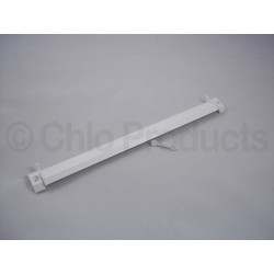 Grey & White Aluminium Vent with hood