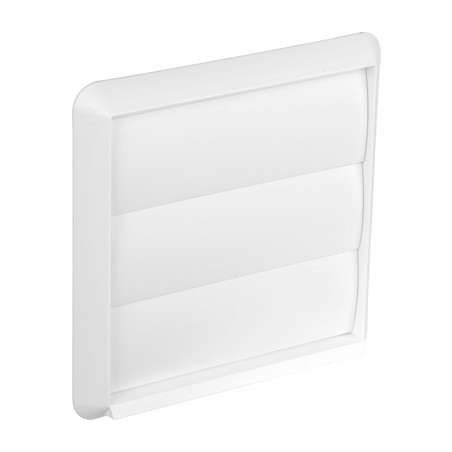 Wall Outlet Gravity Flap 100mm White