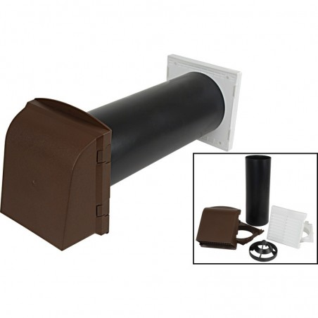 "5"" Core Drill Vent Kit Brown"