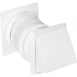 Cooker Hood Flexi Kit 125mm 1m White