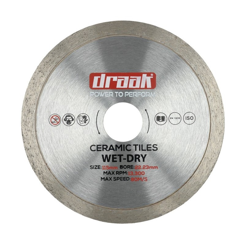 DRAAK POWER FLEX CERAMIC TILE DIAMOND DISC 115MM