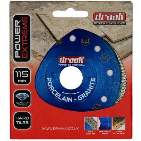 DRAAK POWER EXTREME PORCELAIN TILE DIAMOND DISC 115MM