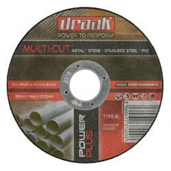 DRAAK POWER PLUS MULTI CUT CUTTING DISC 115MM (10TIN)