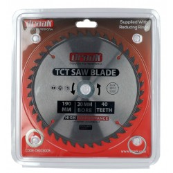 DRAAK POWER MAX TCT SAW BLADE 190X30X40T