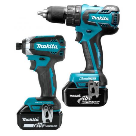 Makita DLX2173TJ 18V LXT Brushless Cordless Combi Drill & Impact Driver Twin Pack