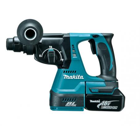 Makita DHR242RMJ 18V LXT Cordless Brushless SDS Plus Rotary Hammer Drill 2 x 4.0Ah
